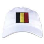 Belgium Unstructured Adjustable Cap (White)