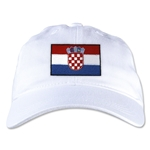 Croatia Unstructured Adjustable Cap (White)