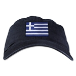 Greece Unstructured Adjustable Cap (Black)