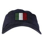 Italy Unstructured Adjustable Cap (Black)