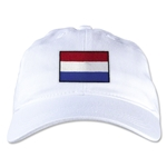 Netherlands Unstructured Adjustable Cap (White)