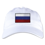 Russia Unstructured Adjustable Cap (White)