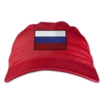Russia Unstructured Adjustable Cap (Red)