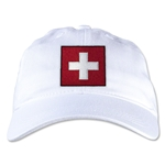 Switzerland Unstructured Adjustable Cap (White)