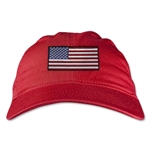 USA Unstructured Adjustable Cap (Red)