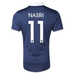 France 2014 NASRI Authentic Home Soccer Jersey