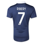 France 2014 RIBERY Authentic Home Soccer Jersey