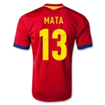 Spain 2013 MATA Home Soccer Jersey
