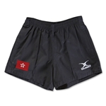 Hong Kong Flag Kiwi Pro Rugby Shorts (Black)