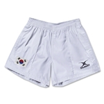 South Korea Flag Kiwi Pro Rugby Shorts (White)