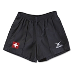 Switzerland Flag Kiwi Pro Rugby Shorts (Black)