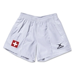 Switzerland Flag Kiwi Pro Rugby Shorts (White)