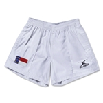 North Carolina Flag Kiwi Pro Rugby Shorts (White)