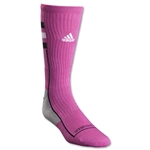 adidas NCAA Team Speed Crew Intense Pink Sock