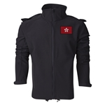 Dominican Republic Performance Softshell Jacket (Black)
