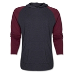 Raglan Long Sleeve Hoody (Gray/Red)