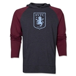 Aston Villa Distressed Club Logo Raglan LS Hoody (Red/Gray)