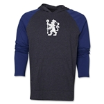 Chelsea Distressed Lion Raglan LS Hoody (Gray)