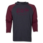 Barcelona Worn Raglan LS Hoody (Red/Gray)