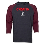 Croatia 2014 FIFA World Cup Brazil(TM) Core LS Ragland Hoody (Grey/Red)