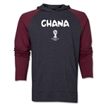 Ghana 2014 FIFA World Cup Brazil(TM) Core LS Ragland Hoody (Grey/Red)