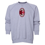 AC Milan Logo Crewneck Fleece (Gray)