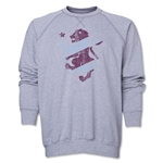 Aston Villa Distressed Crewneck Sweatshirt (Gray)