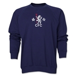Chelsea Distressed Retro Crewneck Fleece (Navy)
