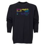 Barcelona Distressed Crewneck Sweatshirt