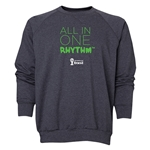 2014 FIFA World Cup Brazil(TM) Men's All in One Rhythm Crewneck Sweatshirt (Dark Grey)