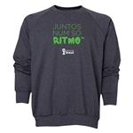 2014 FIFA World Cup Brazil(TM) Men's All in One Rhythm Portuguese Crewneck Sweatshirt (Dark Grey)