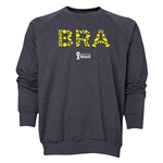 Brazil 2014 FIFA World Cup Brazil(TM) Men's Elements Crewneck Sweatshirt (Dark Grey)
