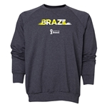 Brazil 2014 FIFA World Cup Brazil(TM) Men's Palm Crewneck Sweatshirt (Dark Grey)