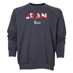 Iran 2014 FIFA World Cup Brazil(TM) Men's Palm Crewneck Sweatshirt (Dark Grey)