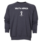 South Korea 2014 FIFA World Cup Brazil(TM) Men's Core Crewneck Sweatshirt (Dark Grey)
