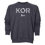 South Korea 2014 FIFA World Cup Brazil(TM) Men's Elements Crewneck Sweatshirt (Dark Grey)