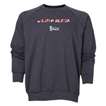 South Korea 2014 FIFA World Cup Brazil(TM) Men's Palm Crewneck Sweatshirt (Dark Grey)