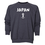 Japan 2014 FIFA World Cup Brazil(TM) Men's Core Crewneck Sweatshirt (Dark Grey)