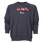 Japan 2014 FIFA World Cup Brazil(TM) Men's Palm Crewneck Sweatshirt (Dark Grey)
