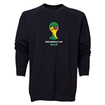 2014 FIFA World Cup Brazil(TM) Men's Official Emblem Crewneck Sweatshirt (Black)