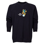 2014 FIFA World Cup Brazil(TM) Men's Official Mascot Crewneck Sweatshirt (Black)