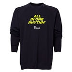 2014 FIFA World Cup Brazil(TM) Men's All in One Rhythm Crewneck Sweatshirt (Black)