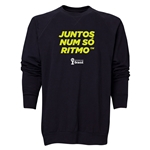 2014 FIFA World Cup Brazil(TM) Men's All in One Rhythm Portuguese Crewneck Sweatshirt (Black)