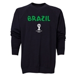 Brazil 2014 FIFA World Cup Brazil(TM) Men's Core Crewneck Sweatshirt (Black)
