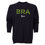 Brazil 2014 FIFA World Cup Brazil(TM) Men's Elements Crewneck Sweatshirt (Black)