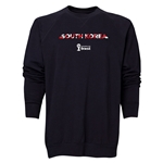 South Korea 2014 FIFA World Cup Brazil(TM) Men's Palm Crewneck Sweatshirt (Black)