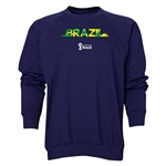 Brazil 2014 FIFA World Cup Brazil(TM) Men's Palm Crewneck Sweatshirt (Navy)
