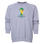 2014 FIFA World Cup Brazil(TM) Men's Official Emblem Crewneck Sweatshirt (Grey)