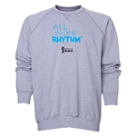 2014 FIFA World Cup Brazil(TM) Men's All in One Rhythm Crewneck Sweatshirt (Grey)