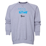 2014 FIFA World Cup Brazil(TM) Men's All in One Rhythm Portuguese Crewneck Sweatshirt (Grey)